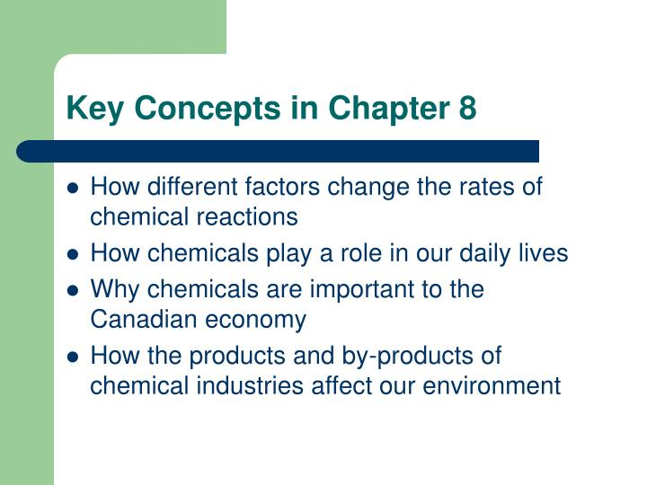 Key Concepts in Chapter 8