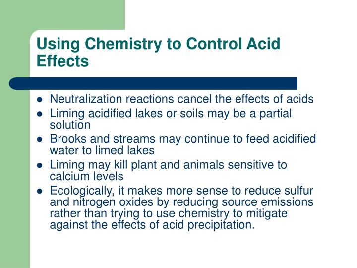Using Chemistry to Control Acid Effects