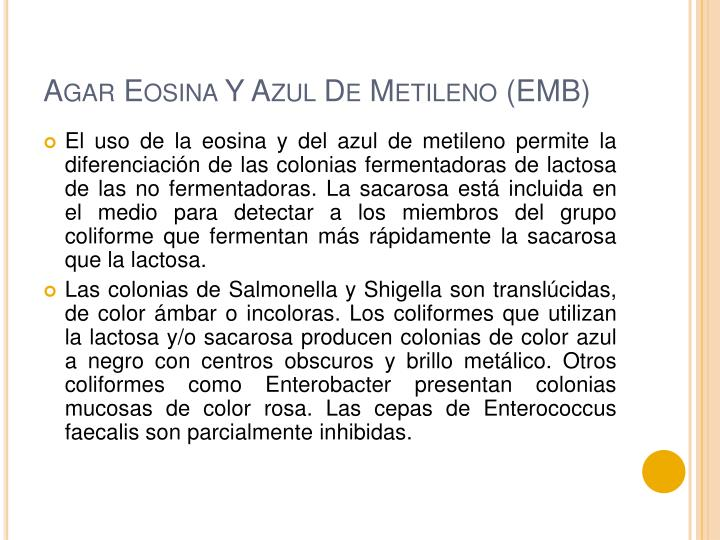Agar Eosina Y Azul De Metileno (EMB)