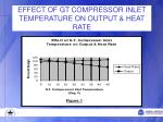 effect of gt compressor inlet temperature on output heat rate