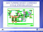 gas turbine based combined cycle station layout