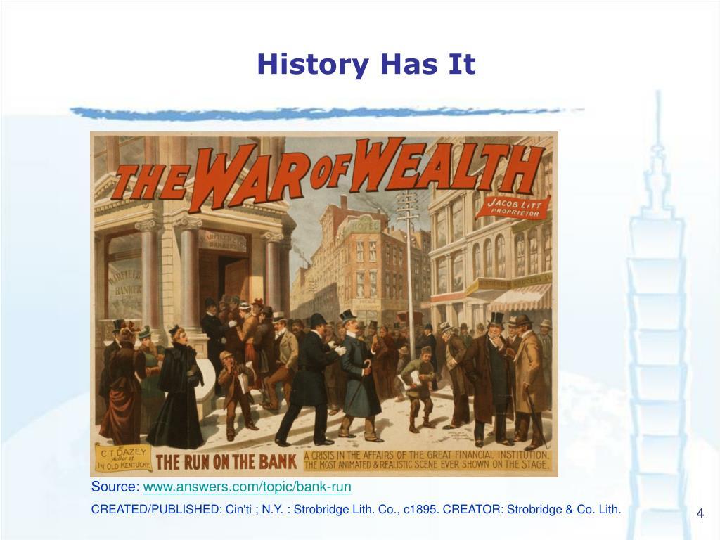 History Has It