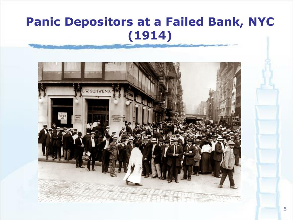 Panic Depositors at a Failed Bank, NYC (1914)