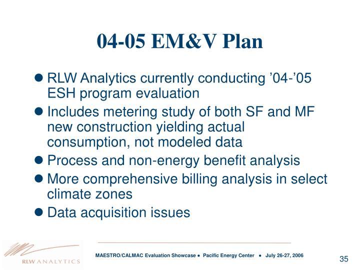 04-05 EM&V Plan