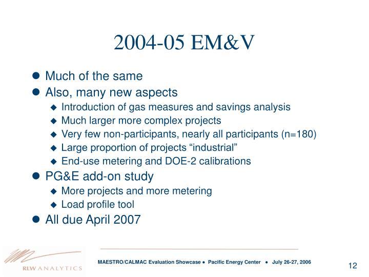 2004-05 EM&V