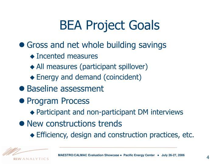 BEA Project Goals