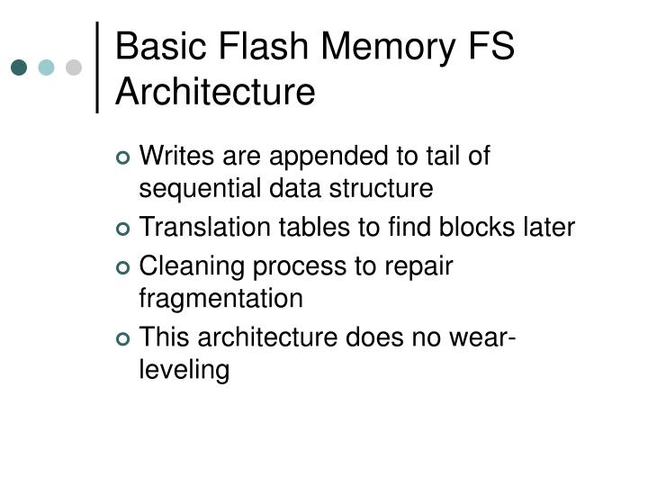 Basic Flash Memory FS Architecture