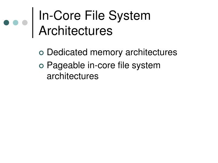 In-Core File System Architectures