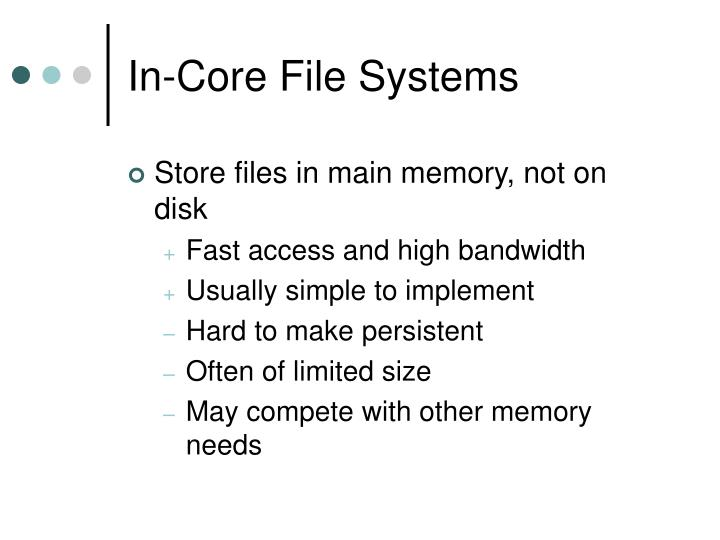 In-Core File Systems