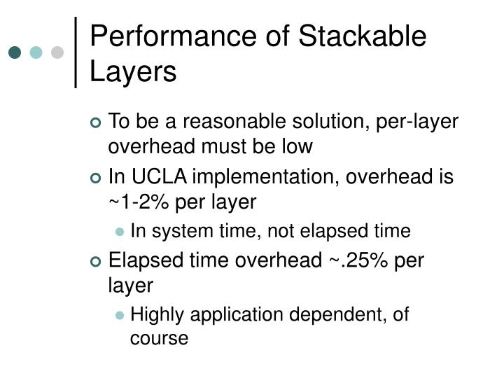 Performance of Stackable Layers