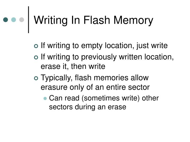 Writing In Flash Memory