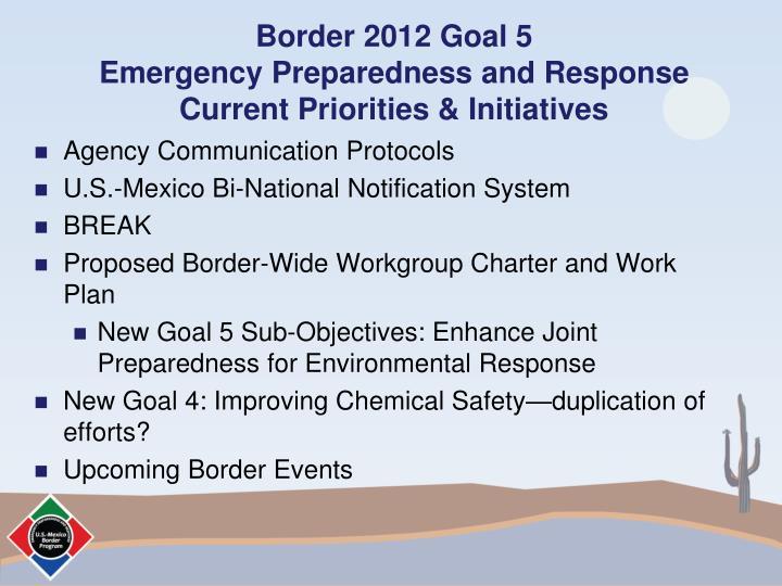 Border 2012 Goal 5