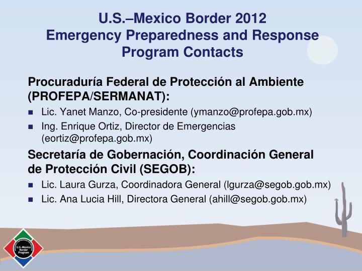 U.S.–Mexico Border 2012