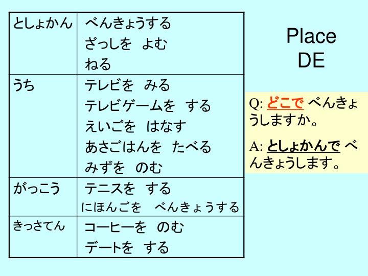 Place DE
