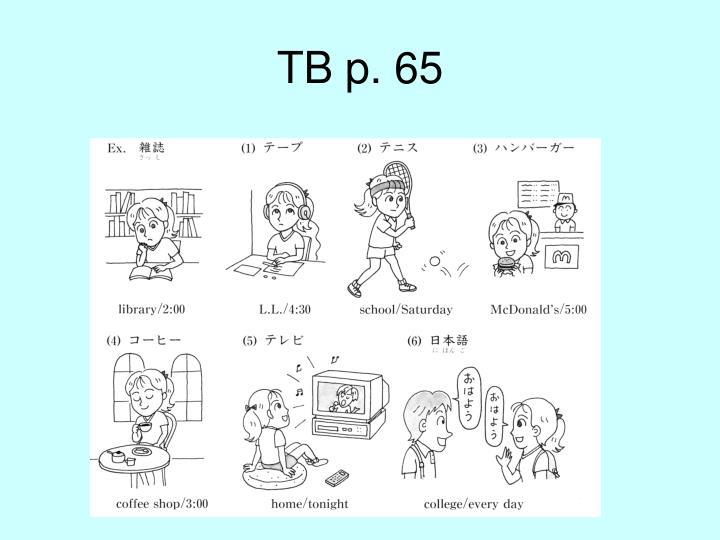 TB p. 65