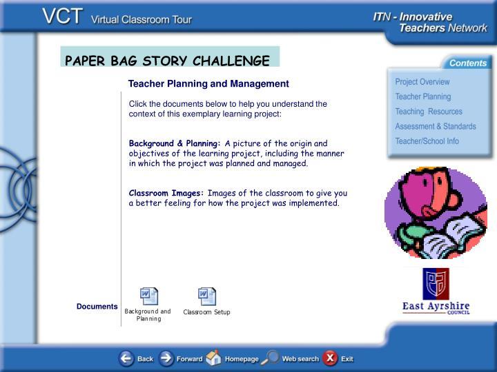 Teacher Planning and Management