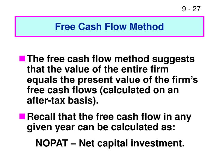 Free Cash Flow Method