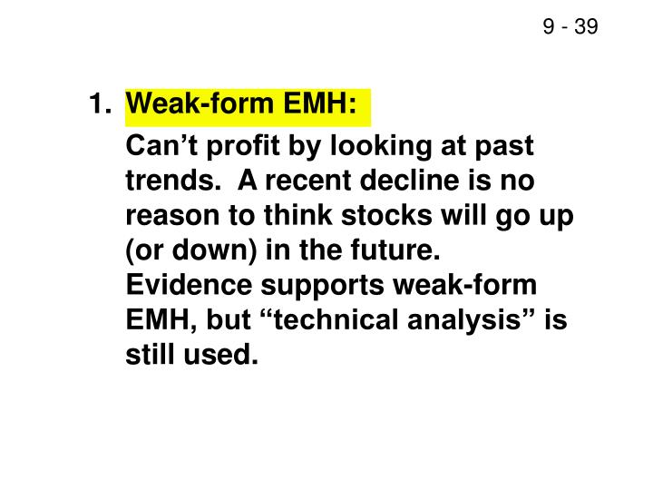 1.Weak-form EMH: