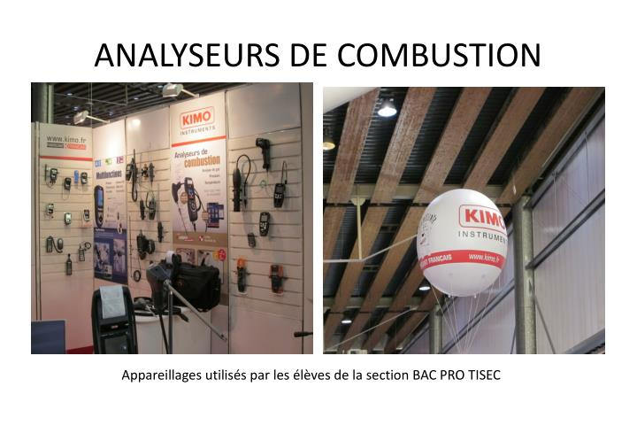 ANALYSEURS DE COMBUSTION