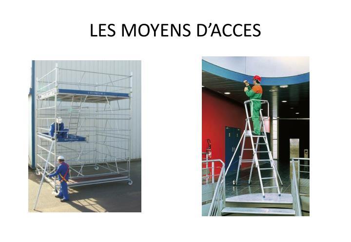 LES MOYENS D'ACCES