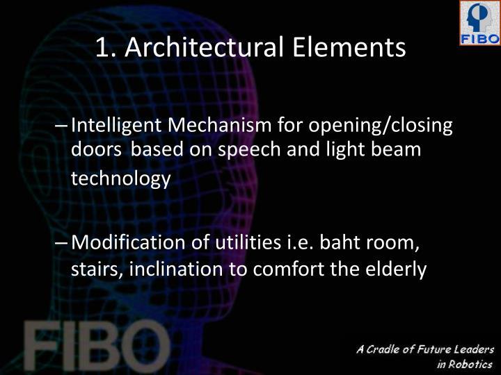 1. Architectural Elements