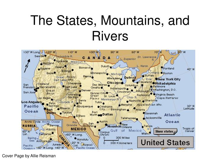 The states mountains and rivers