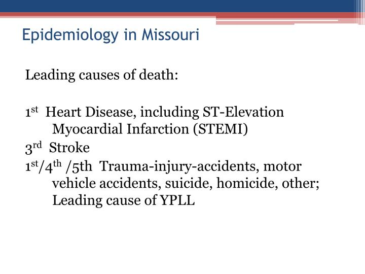 Epidemiology in Missouri