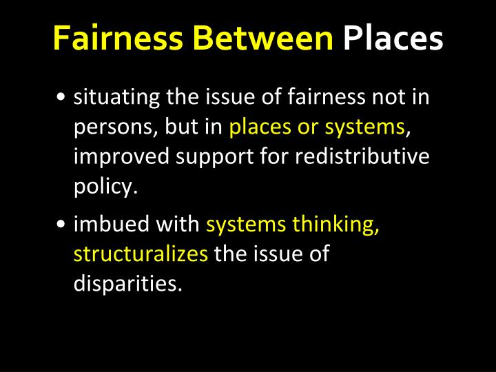 Fairness Between