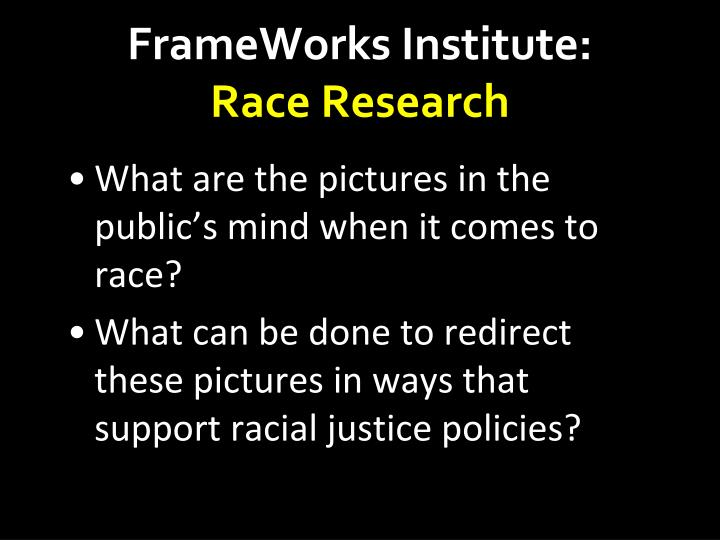 FrameWorks Institute: