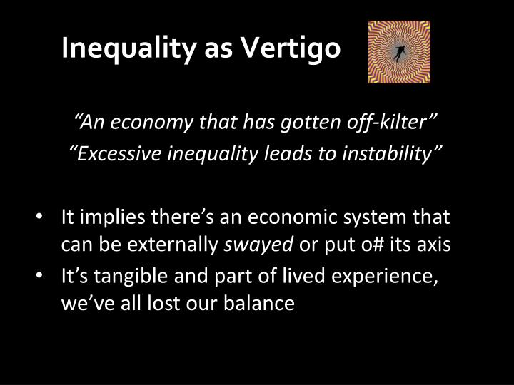 Inequality as Vertigo