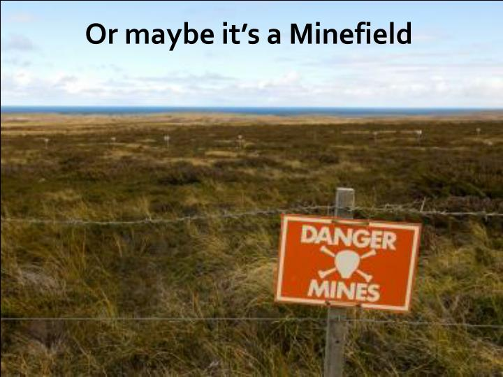 Or maybe it's a Minefield