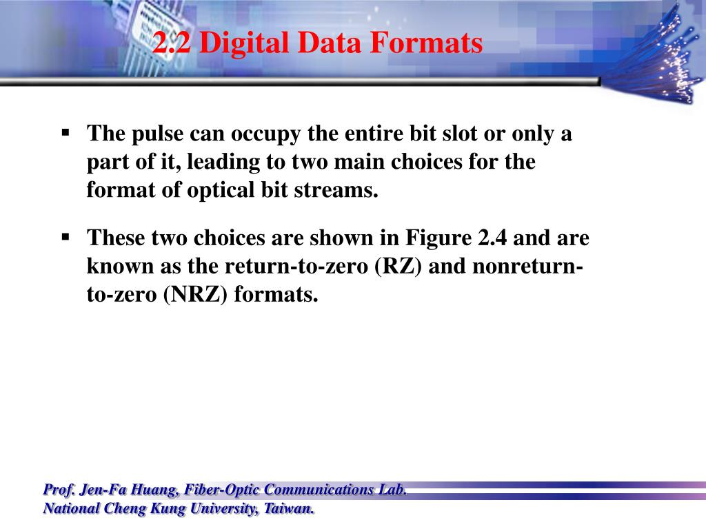 2.2 Digital Data Formats