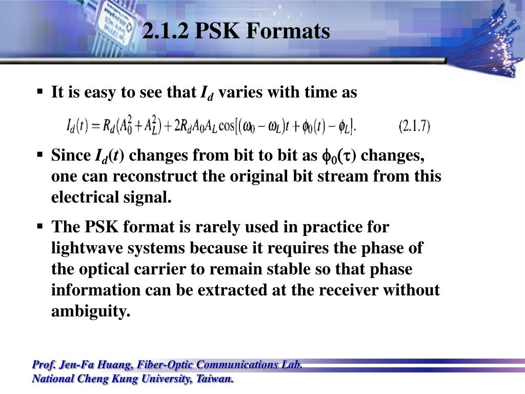 2.1.2 PSK Formats