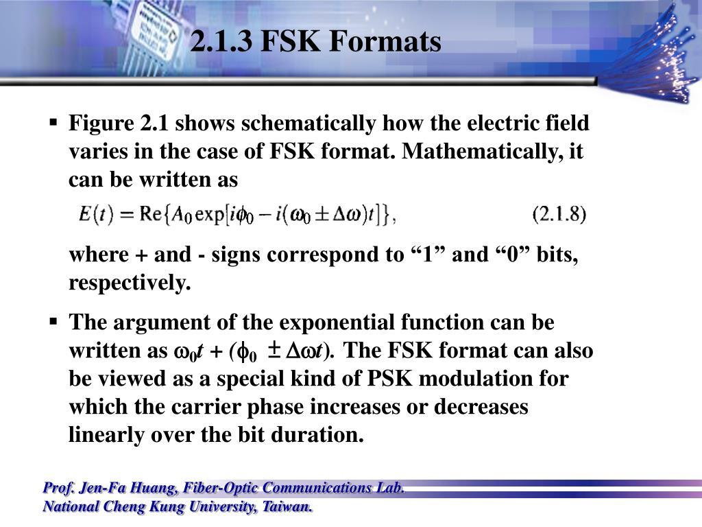 2.1.3 FSK Formats