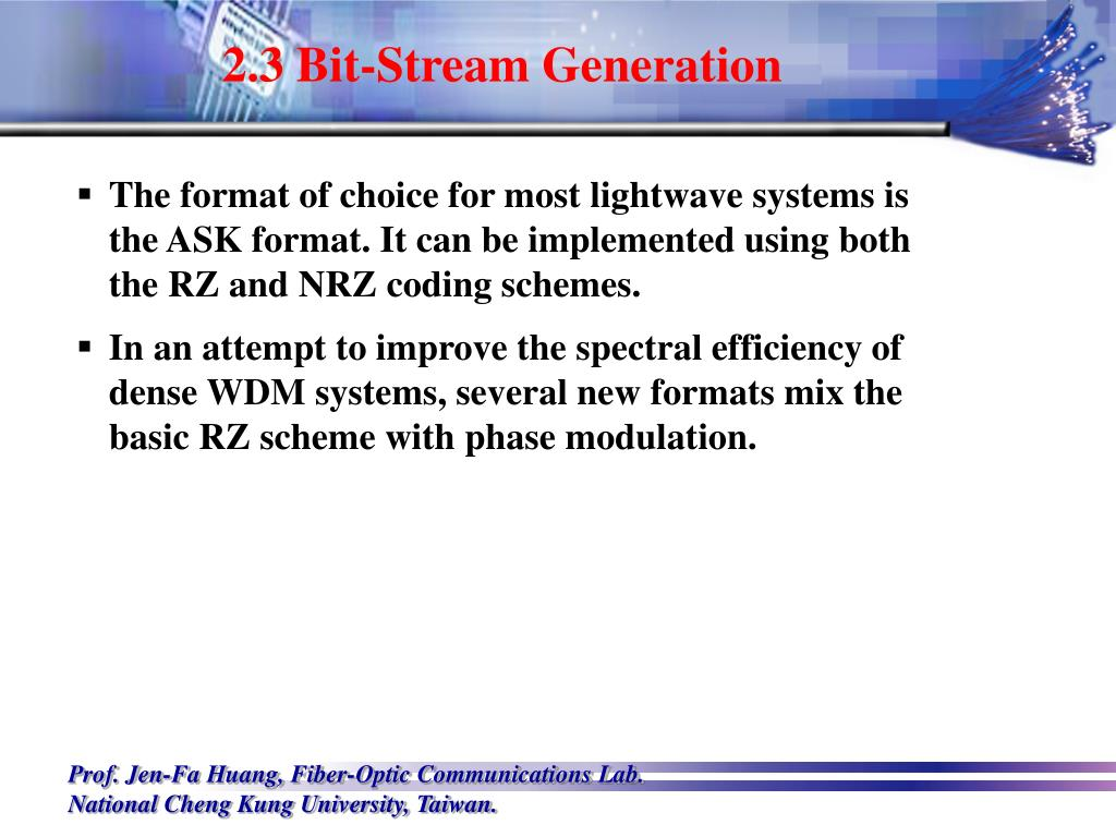 2.3 Bit-Stream Generation