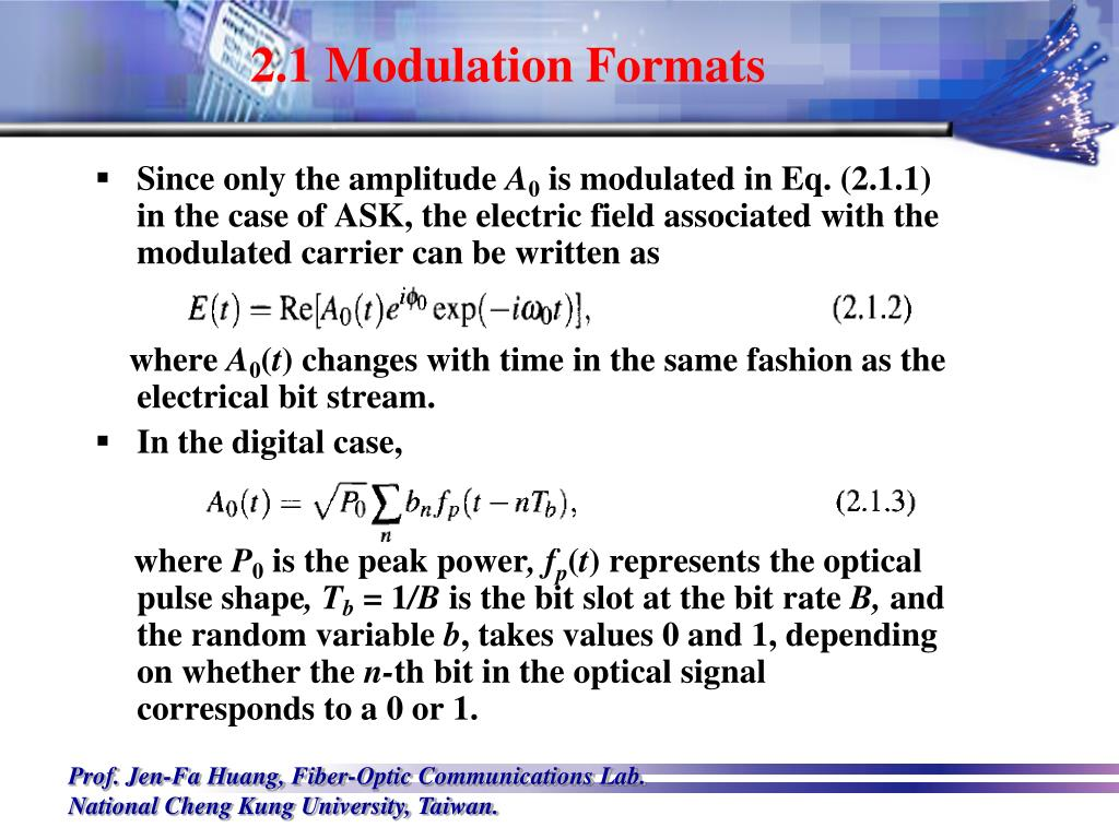 2.1 Modulation Formats
