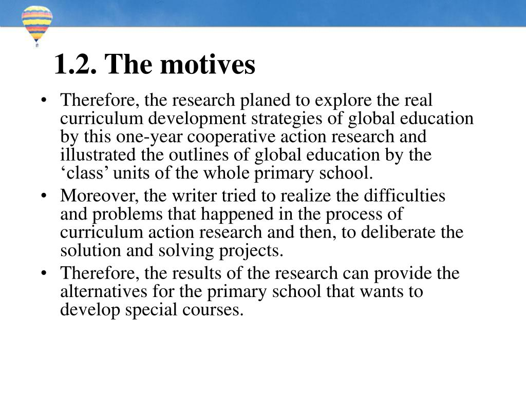 1.2. The motives