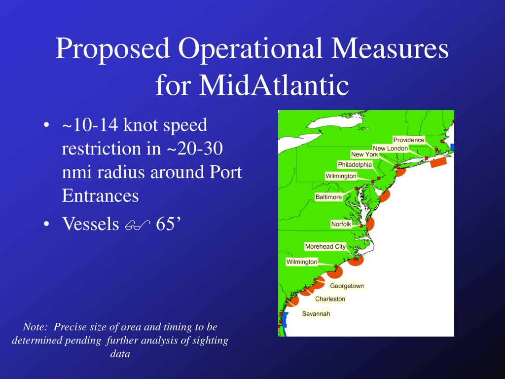 Proposed Operational Measures for MidAtlantic