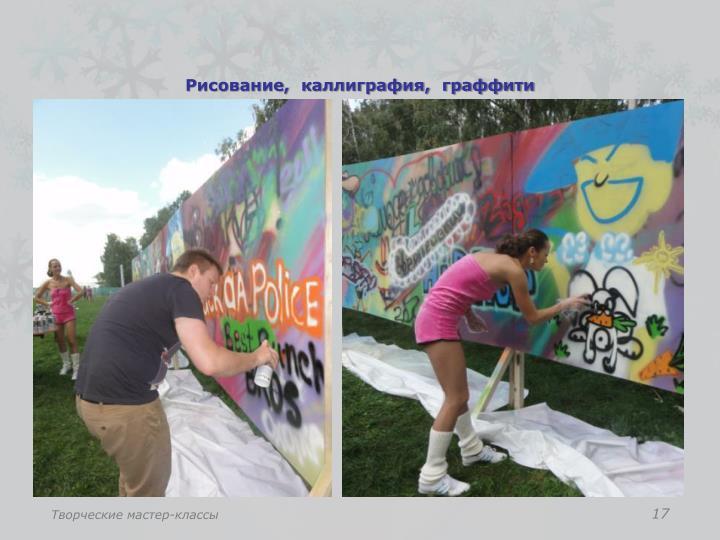 Рисование,  каллиграфия,  граффити