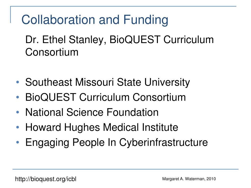 Collaboration and Funding
