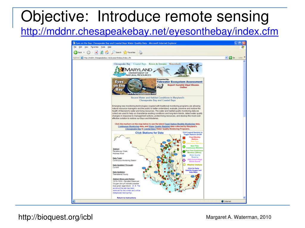 Objective:  Introduce remote sensing