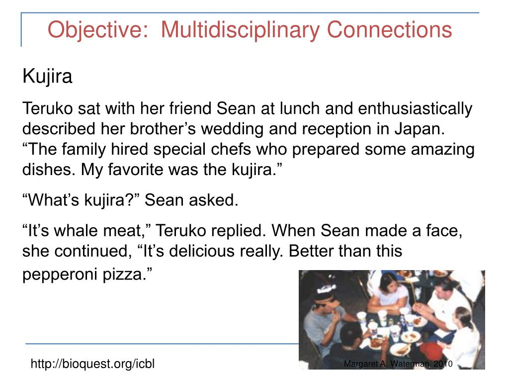 Objective:  Multidisciplinary Connections