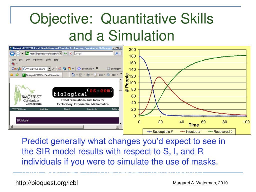 Objective:  Quantitative Skills and a Simulation