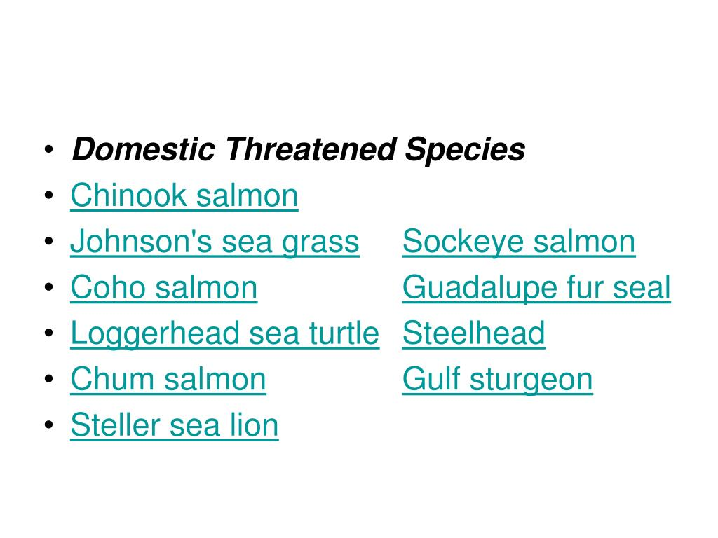 Domestic Threatened Species