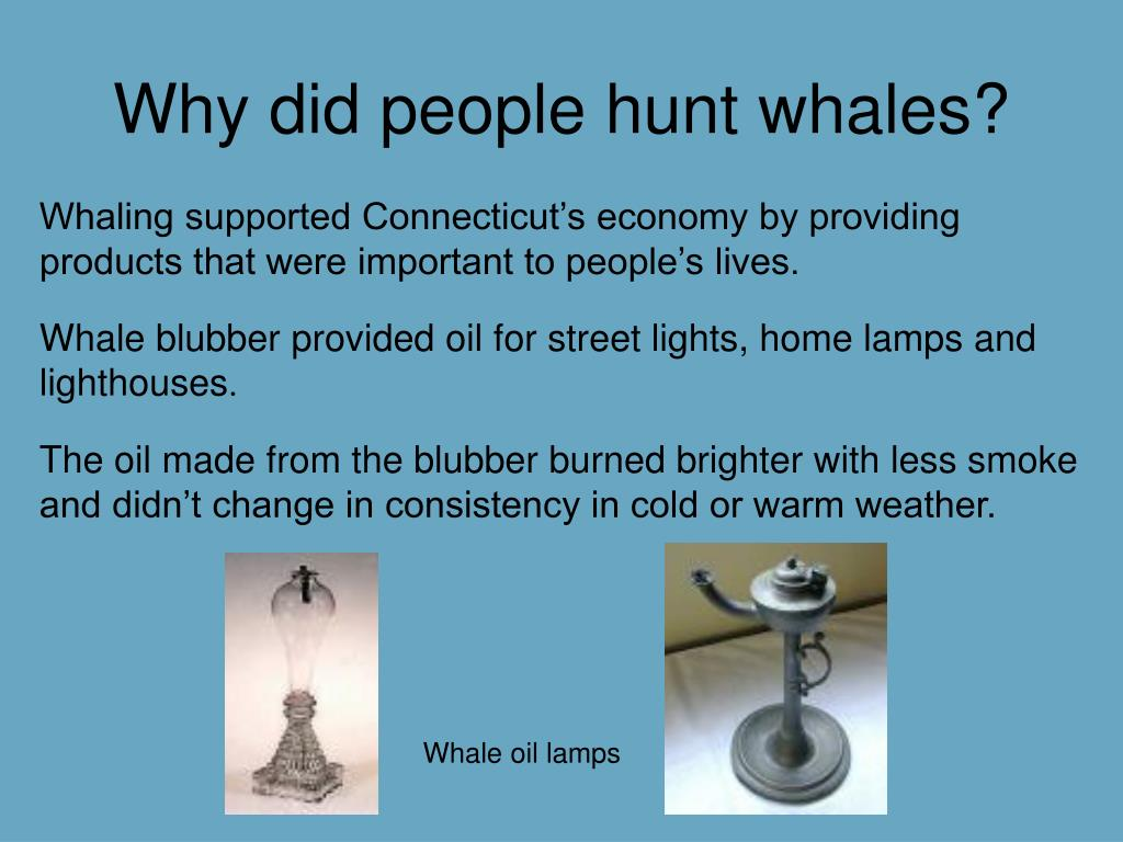 Why did people hunt whales?