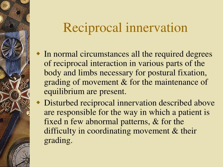 Reciprocal innervation