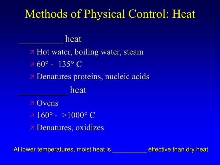 Methods of Physical Control: Heat