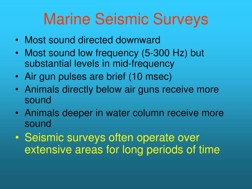 Marine Seismic Surveys