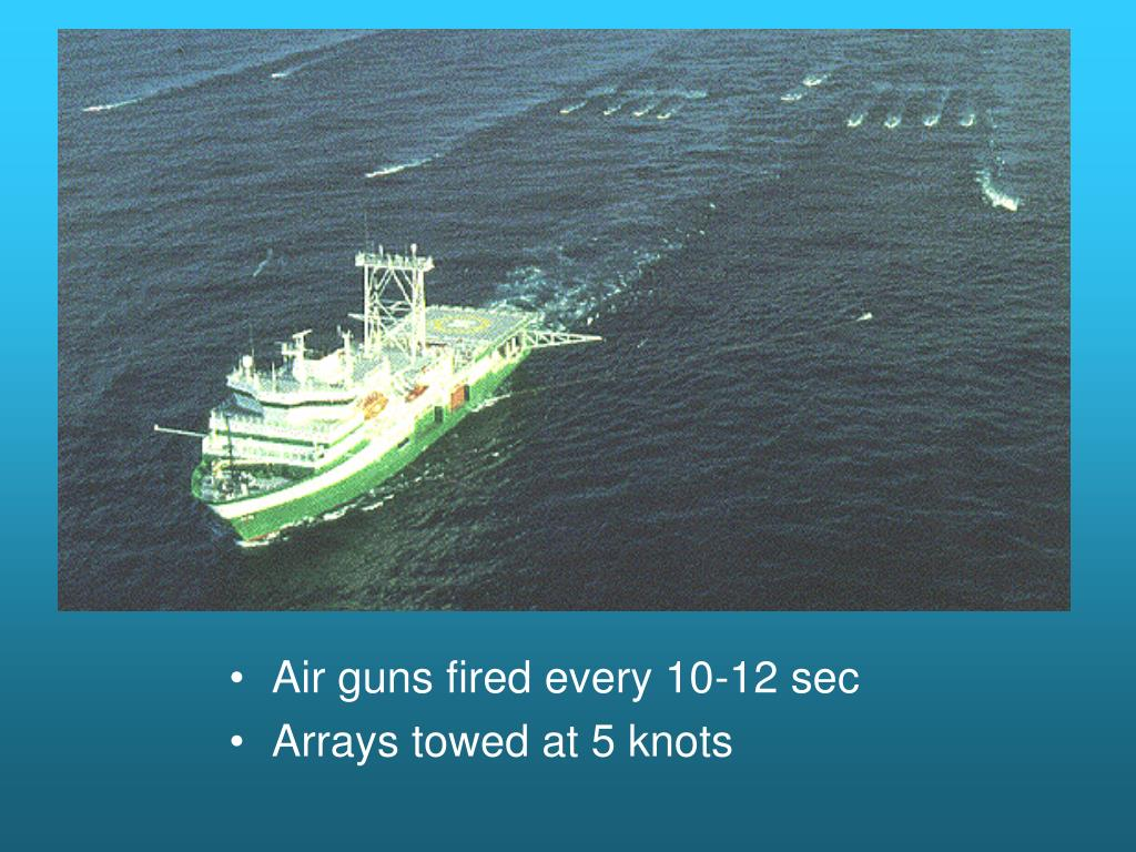 Air guns fired every 10-12 sec