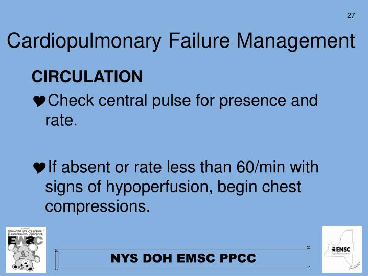 Cardiopulmonary Failure Management